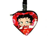 Betty Boop Red Heart Bag with zipper and push lock. Made from fabric.