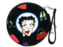 Betty Boop CD/DVD Case with Zipper closure made with fabric.