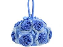 Rose floral satin fabric evening bag for any special occasion. This evening bag has double handle. It has drawstring closure.