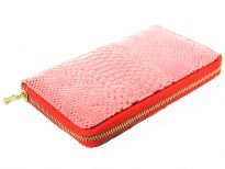 Animal embossed PVC all round zipper ladies wallet