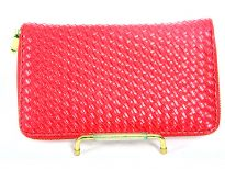 Knit Pattern Embossed all round zipper wallet