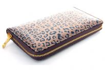 Animal print PVC all round zipper ladies wallet