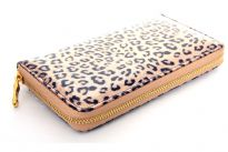 Animal print PVC ladies all round zipper wallet