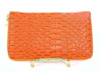 Crocodile Embossed PVC All round zipper wallet