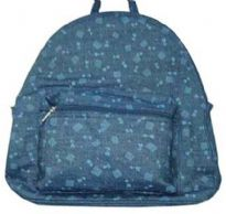 Printed denim Back Pack