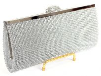 Glittering Rhinestones Evening clutch bag. Comes with metal chain.