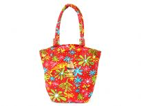 Hand beaded bag accentuated with multi color designs and double adjustable shoulder straps.  Made of Canvas material.