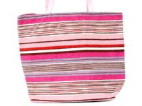 Printed canvas tote, Top zipper closure
