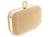 Glittering Rhinestones Evening clutch bag. Comes with metal chain