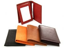 Genuine leather small men credit card wallet
