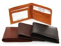 Bi-fold Genuine Cow Leather Men Wallet