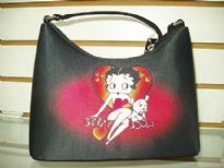 Betty Boop large heart Hobo Bag