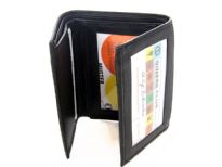 Genuine Leather Tri fold men wallet