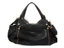 PVC Fashion Handbag. Top zipper closing. Front and Back zipper pocket. Center divider and shoulder strap.