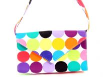 Printed Fabric shoulder Bag. <br> Made in USA