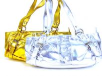 Metallic Handbag with sequin p