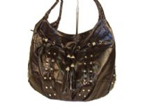 Designer Inspired Hobo bag with drawstring design. Bag has a zipper closure and a double handle. Made of Polyurethane.