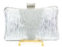Crocheted Satin Metal Frame Evening Bag