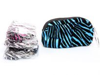 Assorted colors animal print cosmetic bags