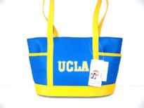UCLA Nylon Collegiate Licensed Tote Bag has a Magnetic for opening. Made from fabric with double handle.