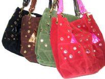Suede Fashion Handbag