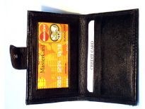 Carry your money in style. This is a bifold credit card and ID wallet. Made of genuine leather. As this is genuine leather, please be aware that there will be some small creases and nicks in the leather but the wallet are all brand new.