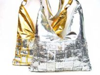 Metallic Sequin Evening Bag