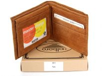 Genuine Leather Mens Bi-Fold wallet.  Fits Easily into Front or Back Pocket. Space for credit cards, License and Bills. Remember not to leave home without it.