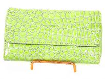 Alligator embossed PVC ladies wallet