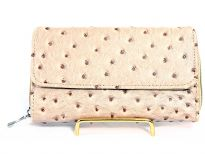 Ostrich embossed ladies wallet