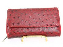 Ostrich embossed Ladies check book wallet