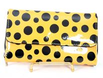 PVC Ladies Polka dot check Book wallet