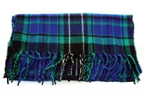 Multi colored Plaids Blue Acrylic Scarf