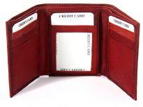 Genuine leather Tri-fold men wallet