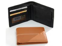 Carry your money in style. This is a genuine leather bi-fold men wallet with 2 credit card slots, 1 ID slot on the left flap. Right flap hold a coin pocket. Plus there are slip pockets on both sides. As this is genuine leather, please be aware that there will be some small creases and nicks in the leather but the wallet are all brand new.