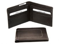 Carry your money in style. This is a double bill genuine leather bifold men wallet. As this is genuine leather, please be aware that there will be some small creases and nicks in the leather but the wallet are all brand new.