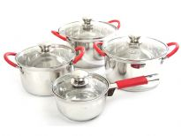Stainless Steel cookware set with Capsulated Bottom & Glass Lid