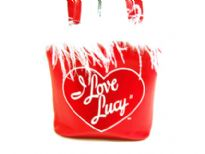 I Love Lucy Bucket bag with PU. With magnetic closure and double handle.