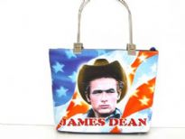 James Dean Bag. Double Metal handle. Top zipper closing.
