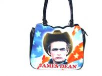 James Dean Bag. double handle, Top zipper closing.