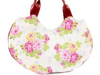 Flower Print Fabric Handbag<br> Made in USA