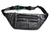 Genuine Leather Flat Fanny Bag