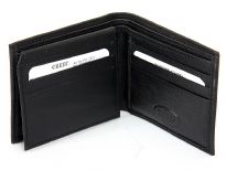 Carry your money in style. This is a genuine leather bifold double bill mens wallet. As this is genuine leather, please be aware that there will be some small creases and nicks in the leather but the wallet are all brand new.