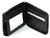 Carry your money in style. This is a genuine leather bi-fold all round zipper wallet. As this is genuine leather, please be aware that there will be some small creases and nicks in the leather but the wallet are all brand new.