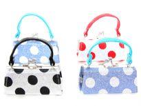 Assorted colors mini coin purse.