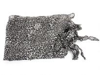 100% polyester animal print scarf.