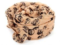 100% cotton printed square scarf