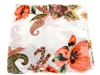 100% polyester flower print scarf