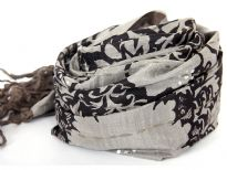 100% silk printed scarf with 100% wool lining