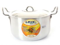 Aluminum Stock Pot with Stainless Steel Lid 10.75 inches - 8.25 Qrt.